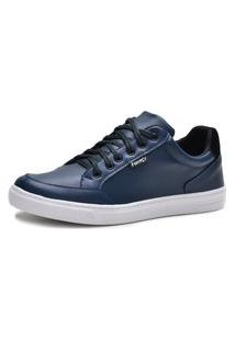 Tênis Casual Cano Baixo Masculino Form'S Azul