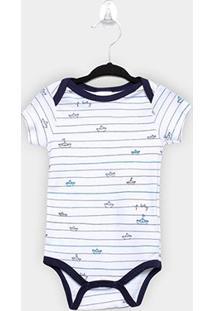 Body Infantil Up Baby Baleia Masculino - Masculino