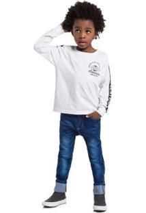 Conjunto Camiseta E Calça Infantil Menino Branco