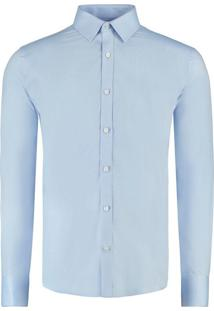 Camisa Vr Maquinetada Ml Azul