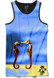 Camiseta Long Beach Regata Cavalos S Sublimada Masculina - Masculino-Azul 45ceadf5c7e
