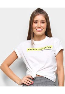 Camiseta Colcci Next Is Now Feminina - Feminino-Off White