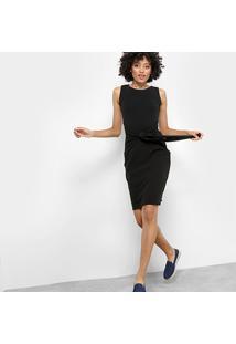 Vestido Drezzup Evasê Curto Amarração - Feminino