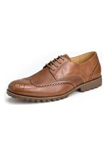 Sapato Social Derby Sandro Moscoloni Dale Wingtip Marrom