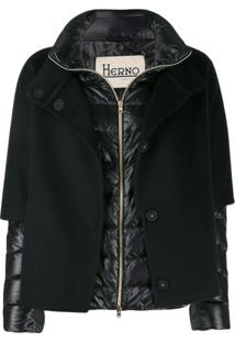 Herno Contrast Padded Jacket - Preto