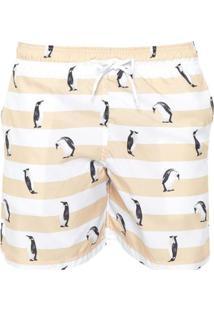 Bermuda Mash Pinguim - Masculino-Amarelo