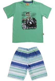 Conjunto Infantil Para Menino - Masculino-Verde