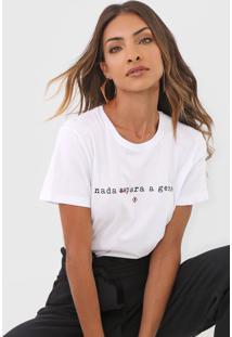 Camiseta Forum Ampla Lettering Branca - Branco - Feminino - Dafiti