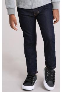Calça Infantil Jeans Slim Azul Escuro
