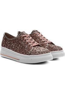 Sapato Infantil Molekinha Max Glit Glam Metal Color Feminino - Feminino-Rosa