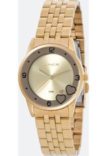 Relógio Feminino Lince Lrg4517L-Ku35C2Kx Analógico 5Atm + Conjunto Semijóia
