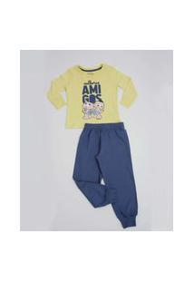 Pijama Infantil Manga Longa Turma Da Mônica Tam 1 A 3