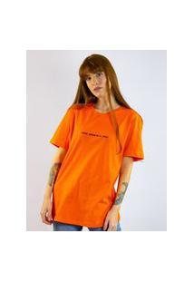Camiseta Toneh Bordado Frase Laranja Laranja