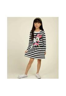 Vestido Infantil Estampa Minnie Disney Tam 4 A 10