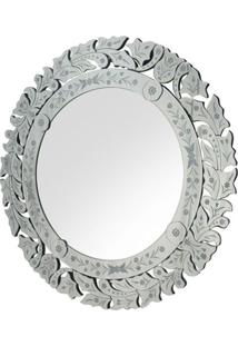 Espelho Marco- Espelhado & Cinza- Ø90Cmrivatti