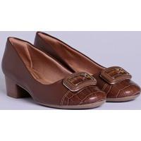 9a5945698a Lojas Pompeia. Sapato De Salto Feminino Comfortflex Marrom