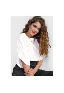Camiseta Cropped Forever 21 Franzidos Off-White