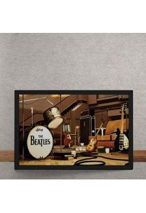 Quadro Decorativo Beatles Palco Instrumentos 25X35