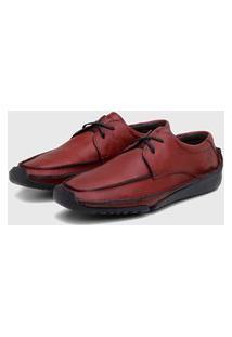 Sapato Em Couro Hayabusa Duna 60 Vermelho