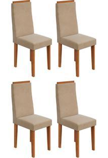 Conjunto Com 4 Cadeiras Dafne Rovere E Creme