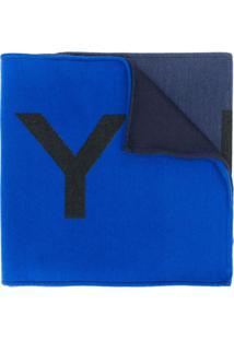 Givenchy Cachecol De Tricô Com Logo - Azul