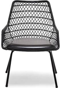 Cadeira Trama Com Braço Estofada Design By Studio Artesian
