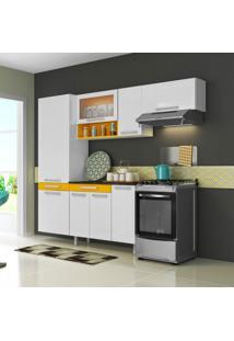 Cozinha Compacta New City 8 Pt Branco E Amarelo