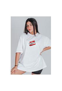Camiseta Feminina Oversized Boutique Judith Antisocial Branco