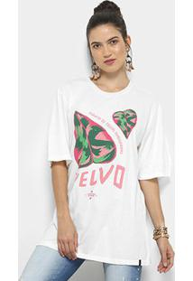 Camiseta Cantão Local Velvo Feminina - Feminino-Off White