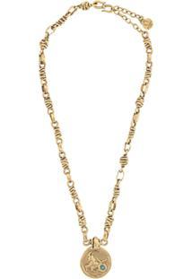 Goossens Talisman Capricorn Medal Necklace - Dourado