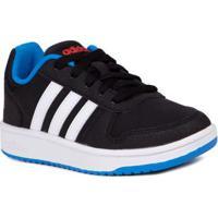ee017c70d7d Lojas Pompeia. Tênis Casual Adidas Vs Hoops 2 Infantil Para Menino - Preto  Branco Azul