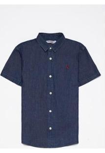 Camisa Mini Sm Jeans Mc Perumbeba Infantil Reserva Mini Masculina - Masculino-Azul Escuro