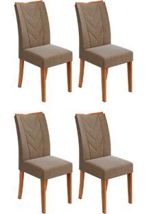 Conjunto Com 4 Cadeiras Atacama L Rovere E Marrom