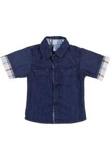 Camisa Infantil Para Bebê Menino - Azul