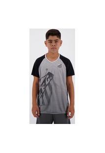 Camisa Santos Shield Infantil Branca