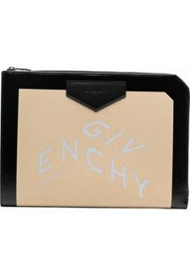Givenchy Clutch Com Estampa De Logo - Neutro
