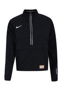 Blusão Nike F.C. Dry Midlayer Qz - Feminino - Preto/Branco