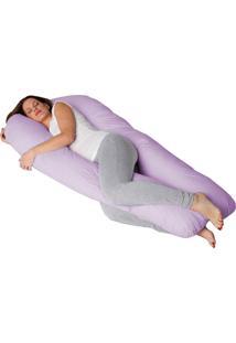 Fronha P/ Travesseiro Corpo Gestante U Lilás Fassini Têxtil