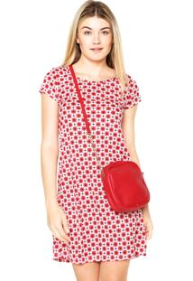 Vestido Luli Mulher Curto Evasê Vermelho
