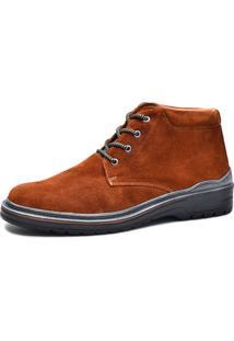 Bota Worker Over Boots Couro Camurça Ferrugem Urban