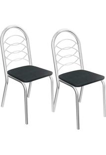 Kit 2 Cadeiras Holanda C009 - Kappesberg - Preto