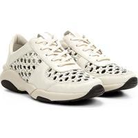 15fb0ac3b4 Netshoes. Tênis Couro Carmim Laser Amarração Feminino ...