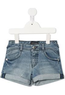 Emporio Armani Kids Short Jeans - Azul