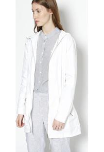 Jaqueta Com Elã¡Stico Embutido- Branca- Lacostelacoste
