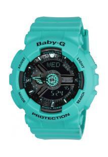Relógio Digital Analógico Casio Baby-G Ba111 - Feminino - Verde
