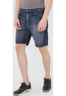 Bermuda Jeans Ellus Reta Estonada Azul