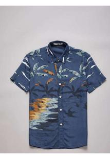 Camisa Mini Pf Mc Silhuetas Reserva Mini Azul