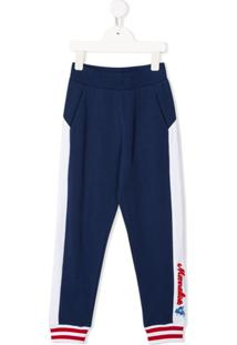 Monnalisa Side Panel Track Trousers - Azul