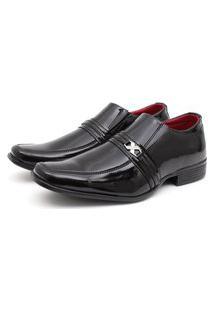 Sapato Social Verniz Fork Preto