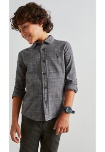 Camisa Mini Pf Principe De Gales Reserva Mini Preto - Kanui